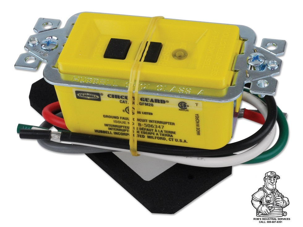 20A 120VAC HUBBELL WIRING DEVICE-KELLEMS GFM20 Yellow GFCI Module