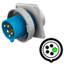 HBL5100B9W Hubbell 100A 120/208V Male Flanged Inlet