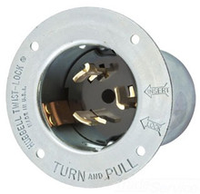 Hubbell CS8175 50A 480V 3P 4W Twist Lock Flanged Inlet