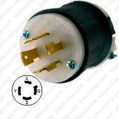 Hubbell F P//N HBL2413 Locking Plug 20A 125//250V 3pole 4wire ground Lot of 2