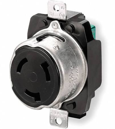 3 Pole 4 Wire Receptacle   Hubbell Hbl3769 50a 250v Dc 600v Ac 3 Pole 4 Wire Flush Receptacle
