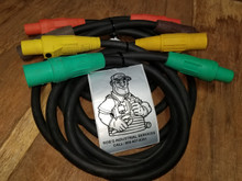 100 FT 4/0 - 400 AMP 600V TYPE SC CAM LOCK CORD SET OF {4}