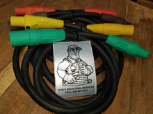 25 FT 2/0 - 300 AMP 600V TYPE SC CAM LOCK CORD SET OF {4}