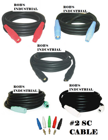 CAMLOCK SET - 100FT #2 SC CABLE 5 WIRE SET 200 AMP 120/208v W/ SERIES 16 SINGLE POLE DEVICES