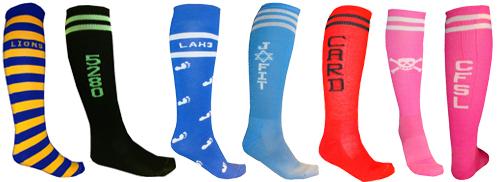 custom knee sock samples