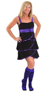 funky purple zebra print socks