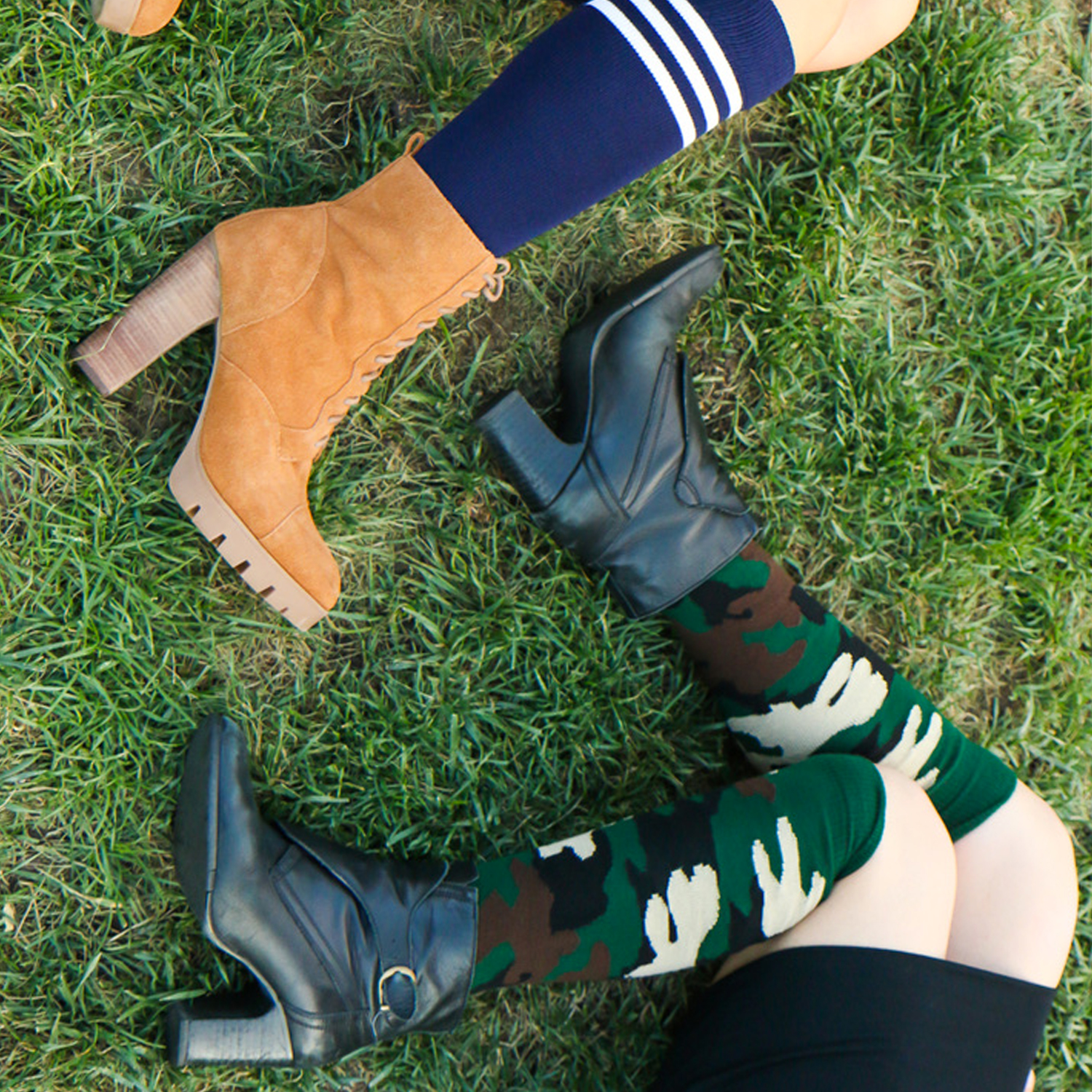 knee socks with ankle booties