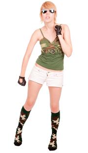 army camo knee socks