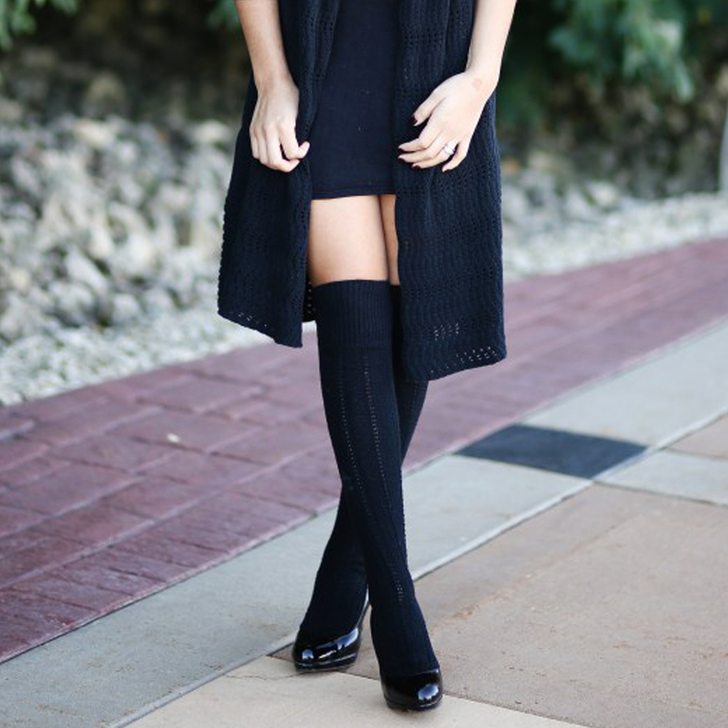 ballerina flats with black socks