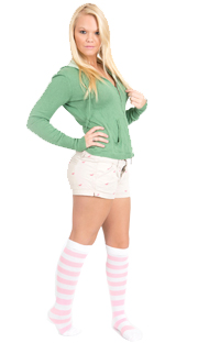 blonde pink socks