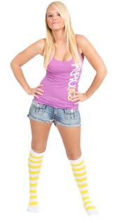 white neon yellow socks - blonde