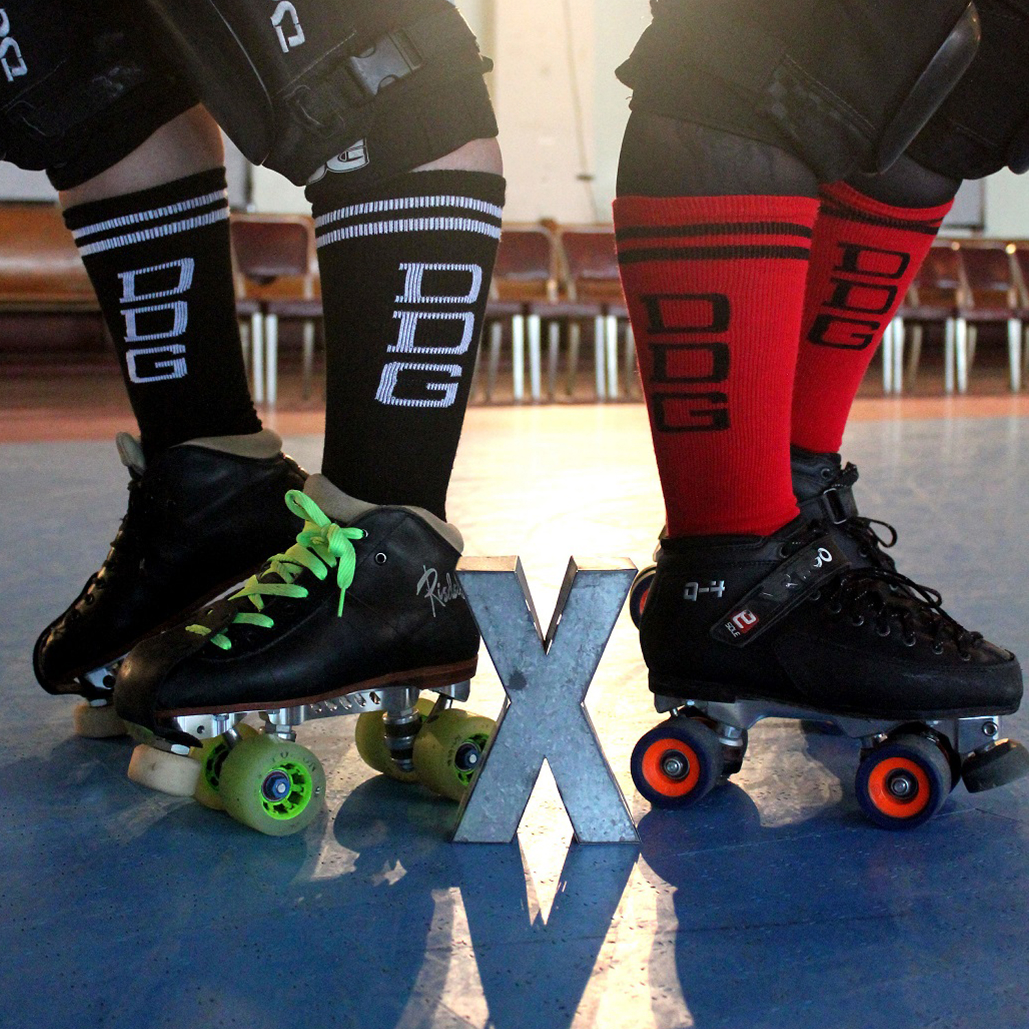 custom roller derby socks