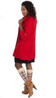 designer plaid socks