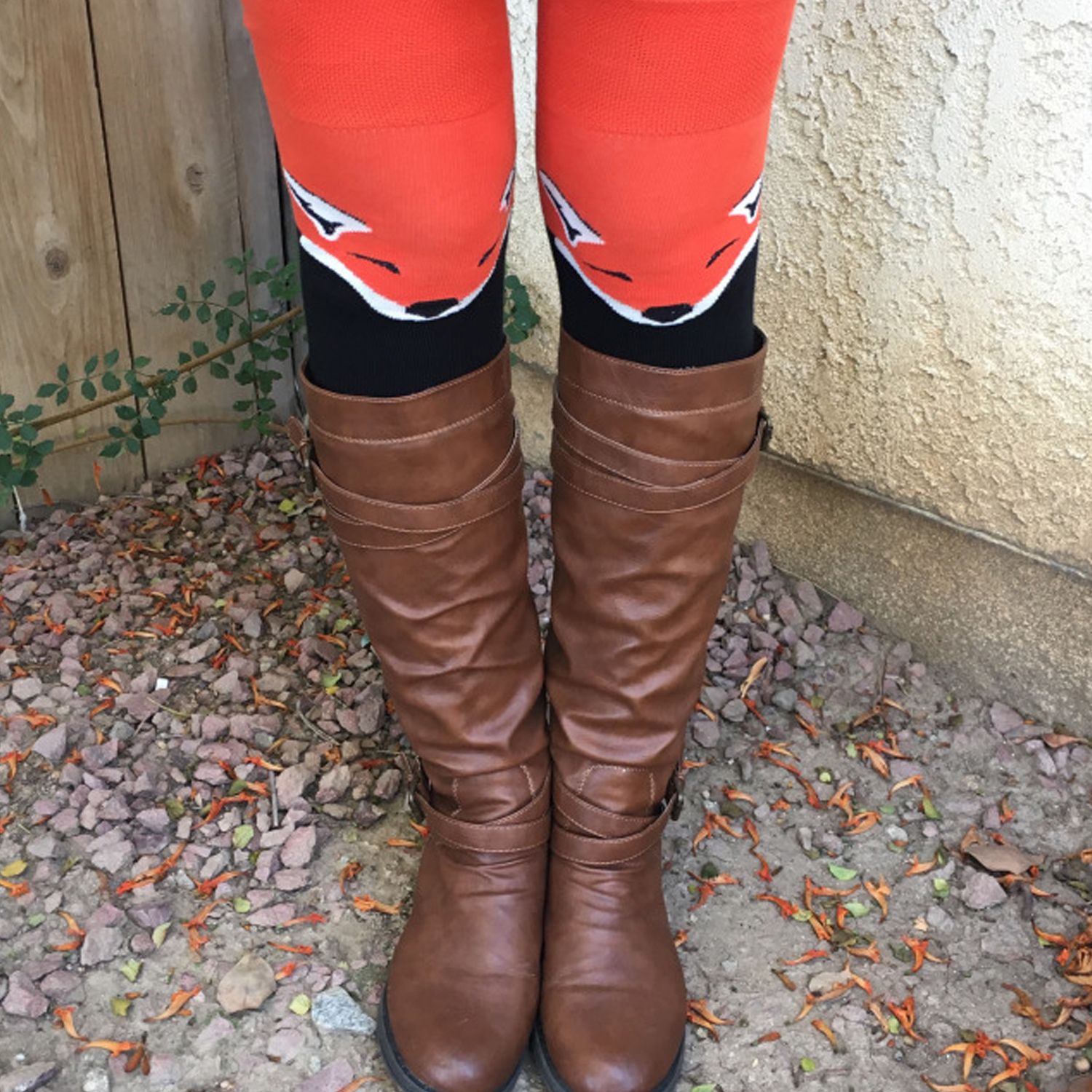 foxy socks with flat boots