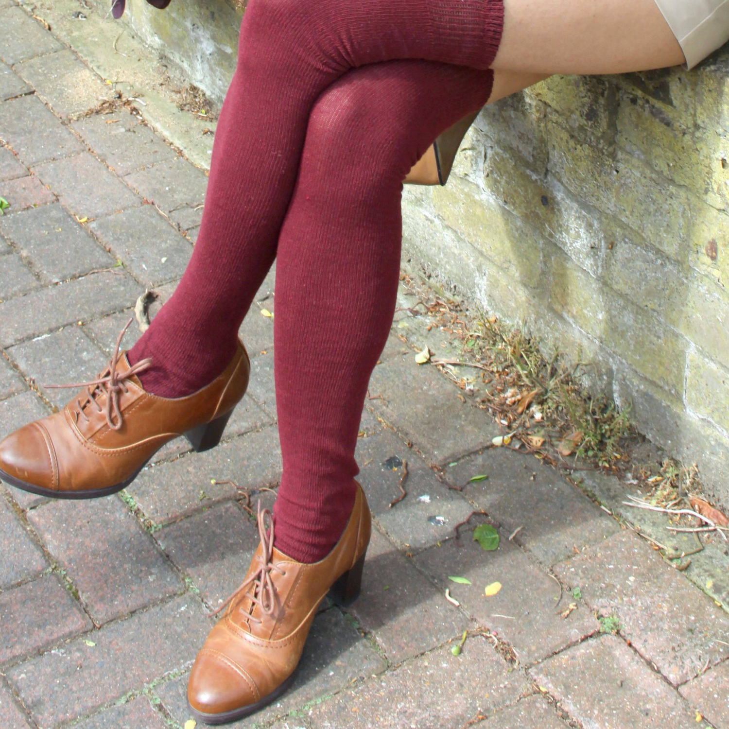ankle shoes with thigh highs