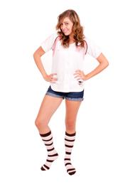 Brown, White & Pink Bumblebee socks