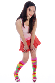 neon army camo knee socks