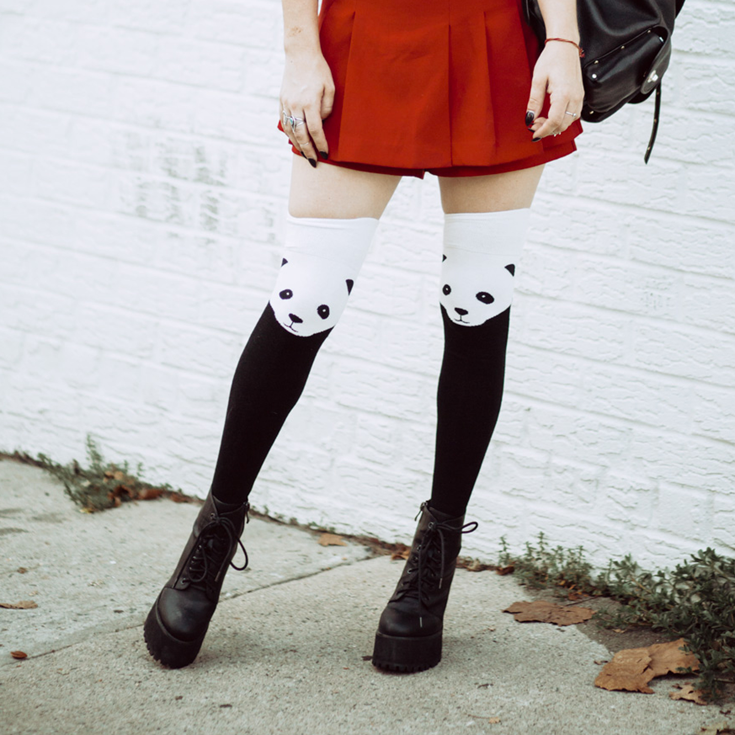 panda socks with platforms