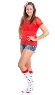star shorts with long star socks - 4th of july outfit