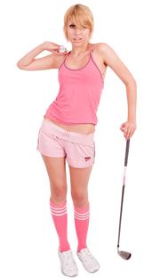 Dark Pink tube socks with white stripes