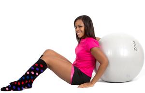 multi-color polka dot socks