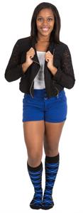 royal blue school color outfit