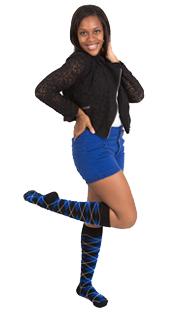 royal blue argyle socks