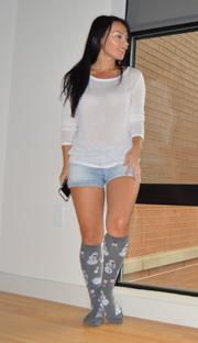 shorts and high socks