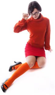 solid orange knee socks