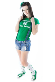 st. patty's day outfit with shamrock socks