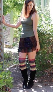 tank top, skirt and socks