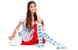 white blue argyle socks