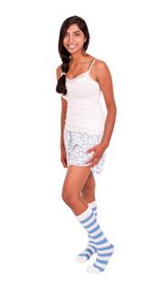 White & Blue Bumblebee socks