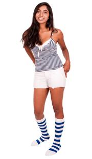 Royal Blue & White Bumblebee socks