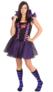 wicked queen argyle socks purple