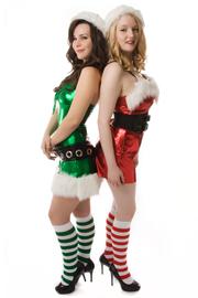 elves with knee socks - xmas