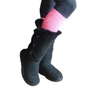 dark pink boot socks