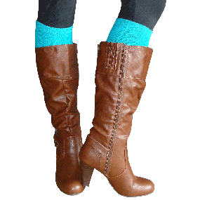 Solid Teal boot socks