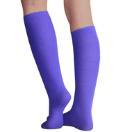 Thin Purple High Socks
