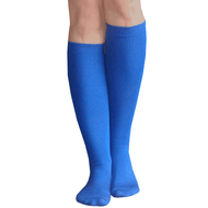 thin royal blue knee socks