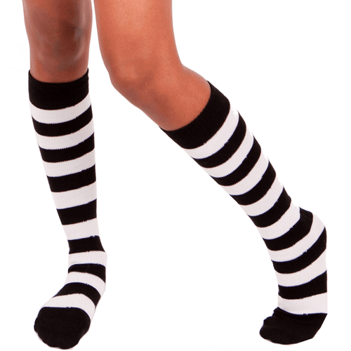 black white socks