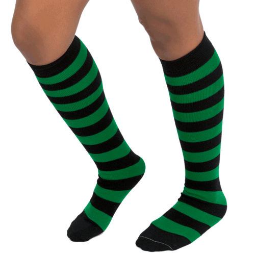 black and green socks