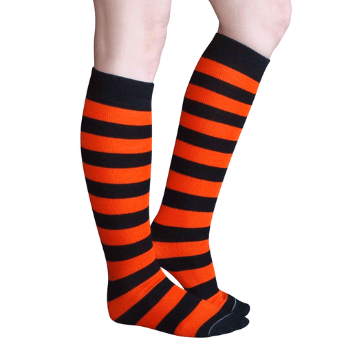 black orange socks