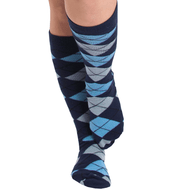 navy blue argyle socks