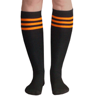 black orange tube knee socks