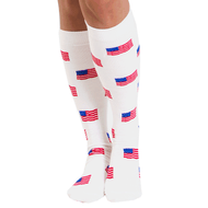 USA flag knee high socks