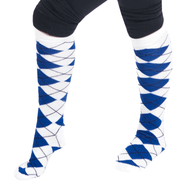 royal blue argyle socks