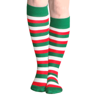 green white red socks