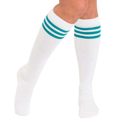 teal tube socks