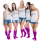 group shot of girls wearing pink knee highs